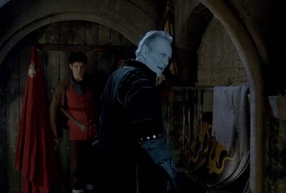 Uther attacks Merlin