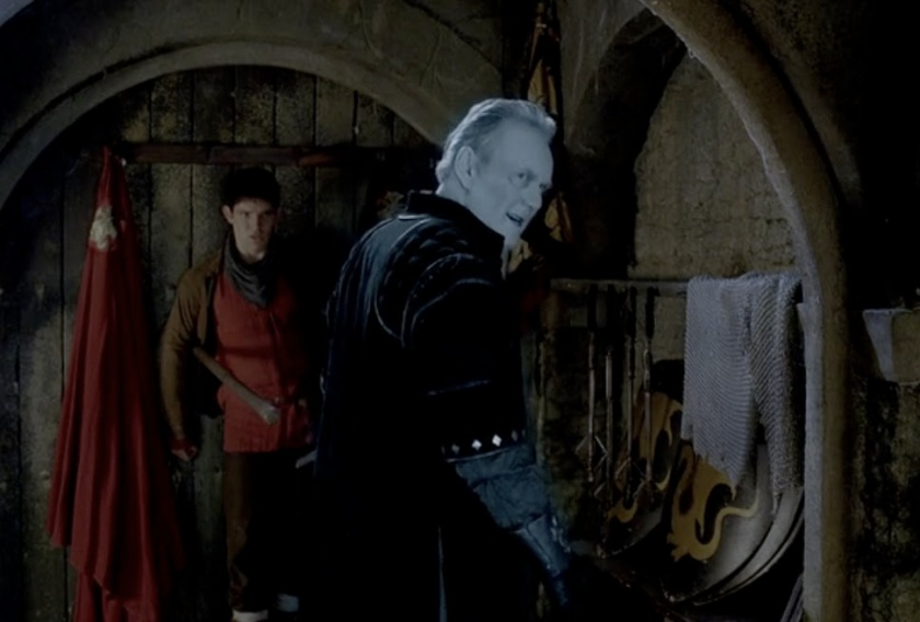 Uther attacks Merlin