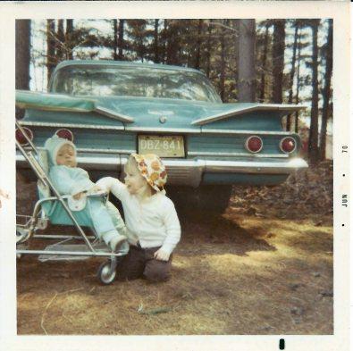 Me, Tim, blue car