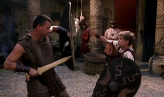 Pullo teaches Octavian to fight