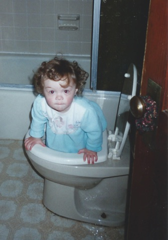 Jess in the toilet 1