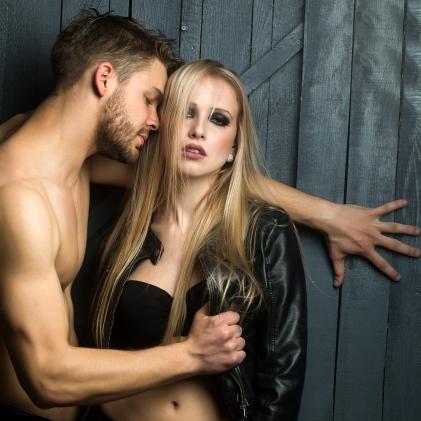 Sexy passionate couple