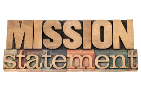 mission statement in wood type